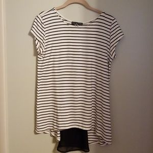Tops - NWT Striped Shirt with Sheer Back